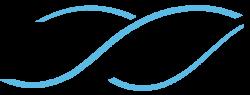 Spirale bleue transparent